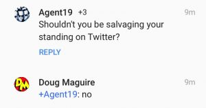 Agent19 and Doug Maguire on Twitter.