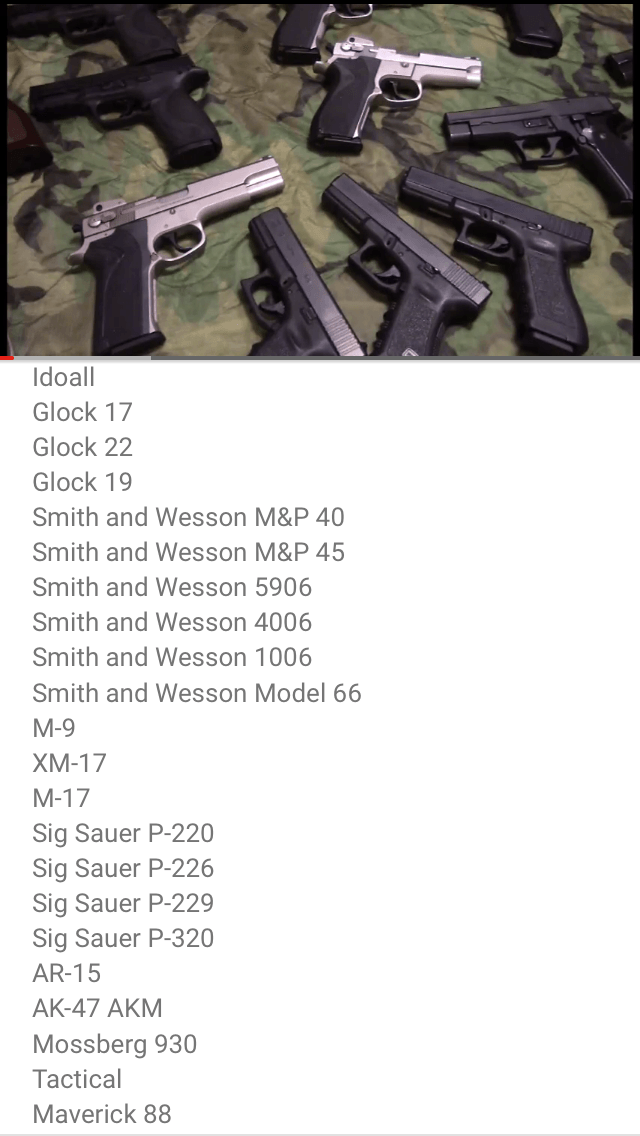 Agent19 gun collection on camoflage